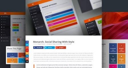 افزونه اشتراک گذاری حرفه ای وردپرس Monarch نسخه 1.4.7