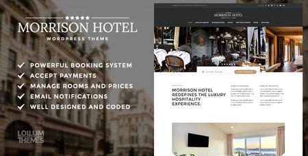 دانلود قالب مخصوص رزرو هتل Morrison Hotel برای وردپرس