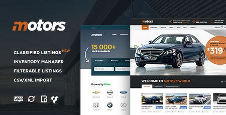 دانلود قالب چندمنظوره و فروش خودرو Motors برای وردرپرس
