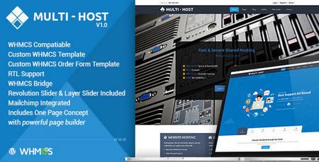 دانلود قالب هاستینگ Multi Hosting نسخه وردپرس و WHMCS