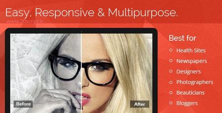 افزونه نمایش قبل و بعد از تغییر تصاویر برای وردپرس