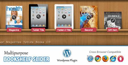 افزونه وردپرس ساخت کمد فروش محصولات Multipurpose Bookshelf Slider