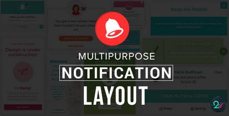 اسکریپت ۱۰ طرح نوتیفیکیشن آماده Multipurpose Notification Layout