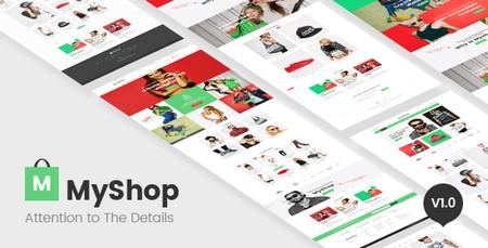 قالب فروشگاهی مای شاپ MyShop به صورت HTML