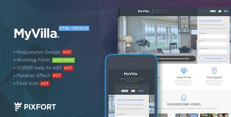 قالب سایت فروش املاک MyVilla به صورت HTML