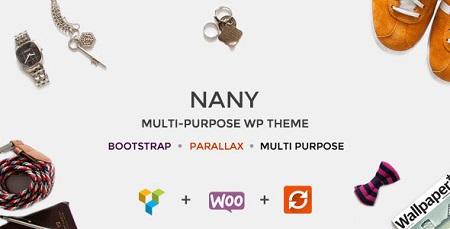 قالب حرفه ای فروشگاهی شرکتی Nany فارسی نسخه 1.8 برای وردپرس