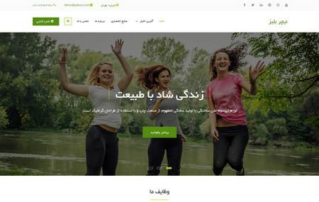 دانلود قالب وردپرس شرکتی Nature Bliss فارسی