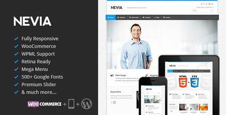قالب شرکتی و واکنش گرا Nevia نسخه 1.5.8 برای وردپرس
