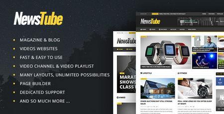 پوسته مجله خبری NewsTube برای وردپرس