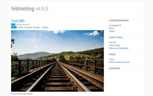 اسکریپت مدیریت محتوای سایت شخصی Nibbleblog