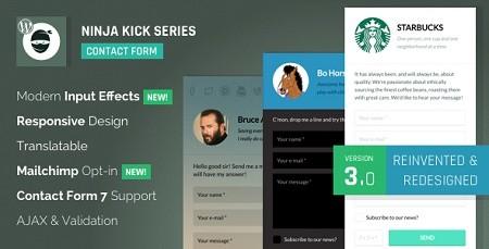 افزونه فرم تماس پیشرفته وردپرس Ninja Kick: Contact Form نسخه 3.4.3