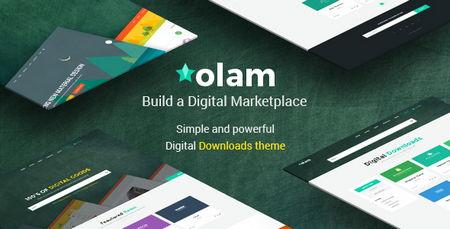 قالب فارسی فروشگاه فایل Olam برای وردپرس