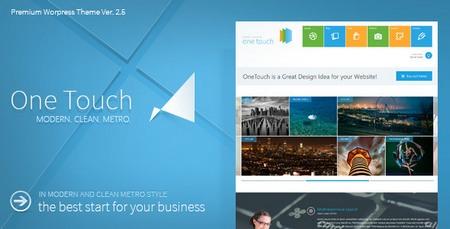 دانلود قالب وردپرس مترو One Touch نسخه 2.7.5