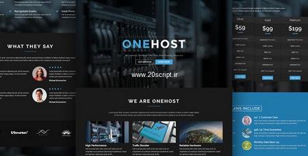 دانلود قالب هاستینگ Onehost نسخه وردپرس و WHMCS