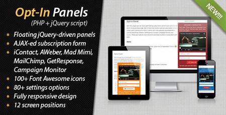 اسکریپت ایجاد محتوای شناور در سایت Opt In Panels