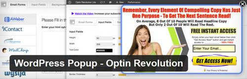 افزونه ایجاد پنجره پاپ آپ Optin Revolution برای وردپرس