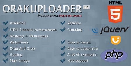 اسکریپت آپلودر تصاویر چندگانه OrakUploader