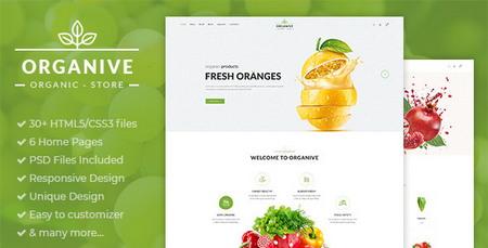 دانلود قالب HTML فروش مواد غذایی ارگانیک Organive