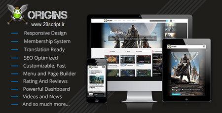 اسکریپت راه اندازی پرتال ویدئویی بازی ها Origins