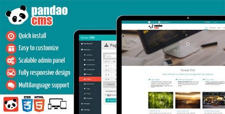 اسکریپت مدیریت محتوا Pandao CMS Pro نسخه 2.9