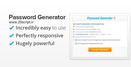 اسکریپت ساخت رمز عبور تصادفی Password Generator