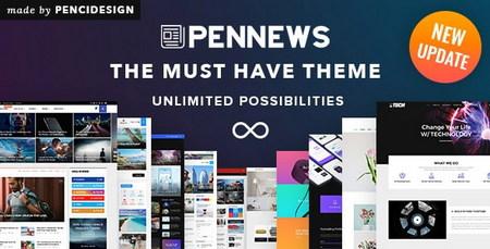 دانلود قالب خبری PenNews برای وردپرس