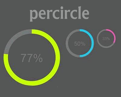 نمایش نمودار پیشرفت پروژه ها با پلاگین جی کوئری PerCircle