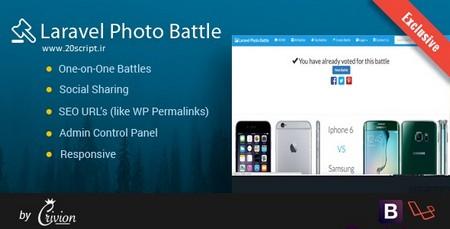اسکریپت ایجاد نبرد در بین عکس ها Laravel Photo Battle