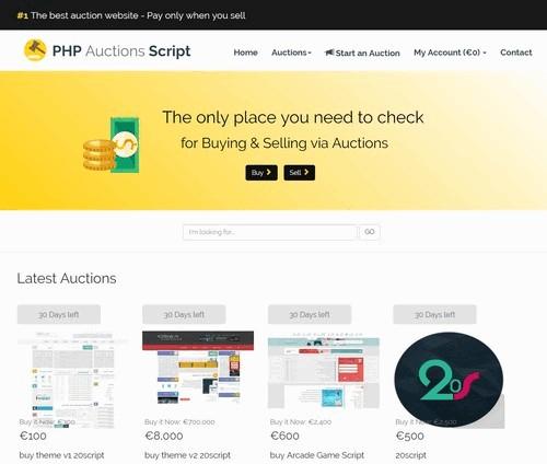 اسکریپت راه اندازی سایت مزایده آنلاین PHP Auctions Script