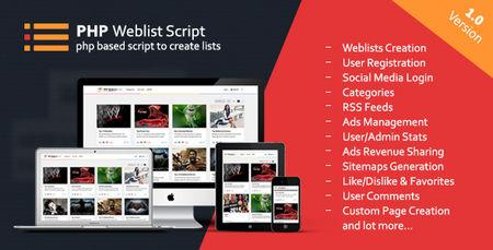 اسکریپت اشتراک گذاری چندرسانه ای PHP Web List Script