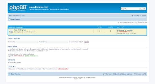 اسکریپت انجمن ساز فارسی phpBB نسخه ۳٫۲٫۰