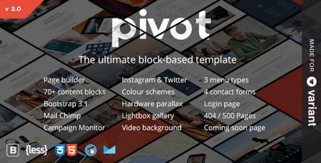 دانلود قالب HTML و چندمنظوره Pivot همراه با صفحه ساز آنلاین