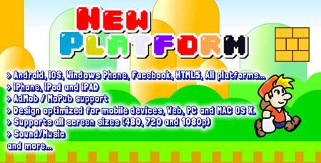اسکریپت بازی آنلاین سوپرماریو (قارچ خور) HTML5 و اندروید