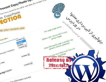 افزونه ی جلوگیری از کپی برداری محتوای سایت برای وردپرس
