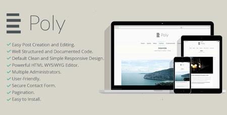 اسکریپت ایجاد وبلاگ شخصی Poly