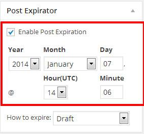 ایجاد تاریخ انقضا برای مطالب وردپرس با افزونه Post Expirator