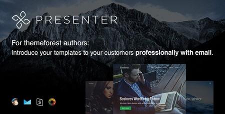 قالب HTML ایمیل و خبرنامه Presenter با قابلیت صفحه ساز آنلاین