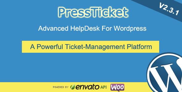 افزونه پشتیبانی تیکتی وردپرس با PressTicket نسخه 2.3.1