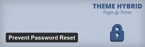 جلوگیری از بازیابی رمز عبور در وردپرس با افزونه Prevent Password Reset