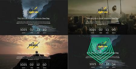 قالب HTML صفحه به زودی Primal