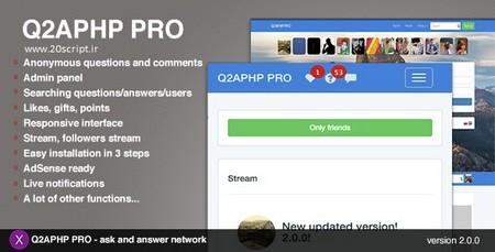 اسکریپت راه اندازی شبکه اجتماعی Q2APHP PRO