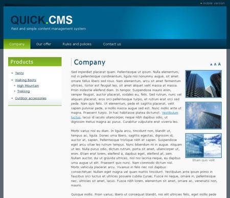 اسکریپت مدیریت محتوای Quick CMS نسخه 5.5
