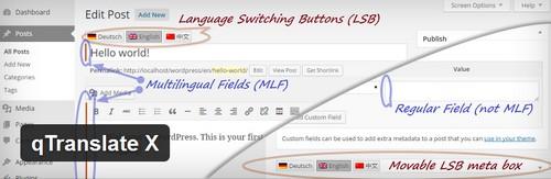 افزونه چند زبانه کردن سایت های وردپرسی qTranslate X