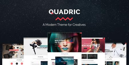 پوسته چندمنظوره و خلاقانه Quadric برای وردپرس