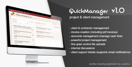 اسکریپت مدیریت پروژه و مشتری QuickManager