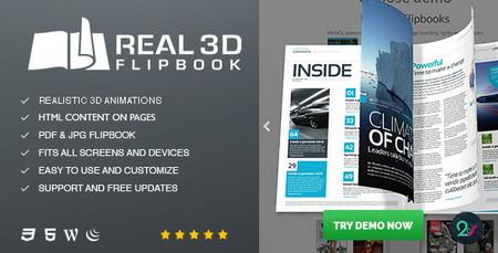افزونه ایجاد کتاب های سه بعدی در وردپرس Real3D Flipbook نسخه 3.8.7