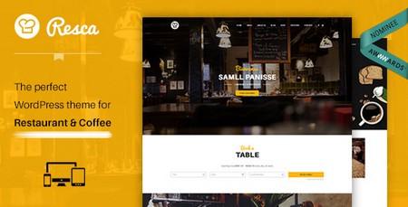 دانلود قالب وردپرس رستوران داری Resca نسخه ۱٫۱۱