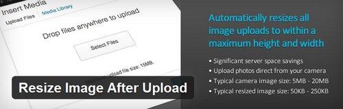 افزونه تغییر سایز تصاویر سایت وردپرسی Resize Image After Upload