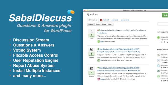 افزونه ایجاد سایت پرسش و پاسخ در وردپرس با SabaiDiscuss v1.2.31