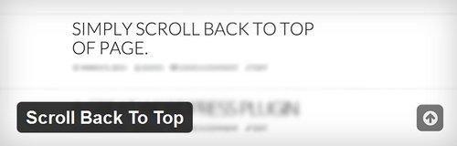 افزونه ایجاد آیکون پرتاب اسکرول به بالا Scroll Back To Top